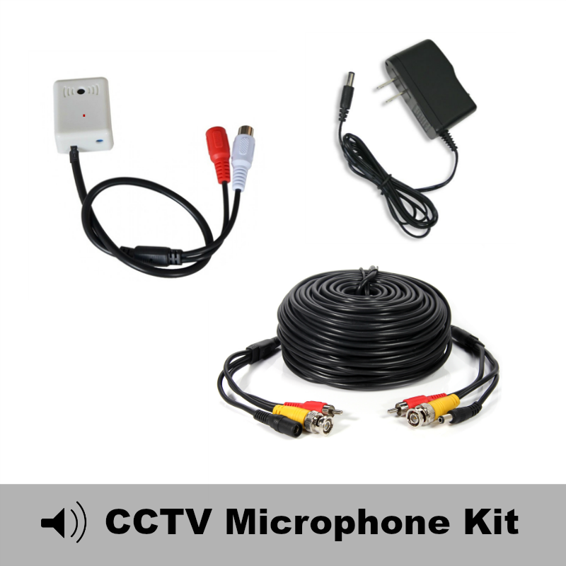 Ecl Mic65cube Cctv Microphone Cube Kit With 65 Foot Cable