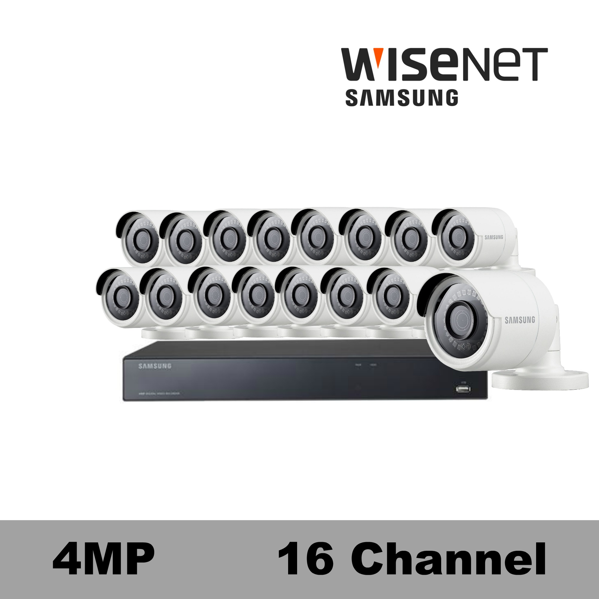 Sdh C85100bf Samsung 16 Channel 4mp Security Camera System