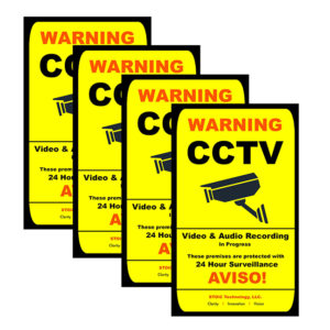 CCTV Warning Sticker