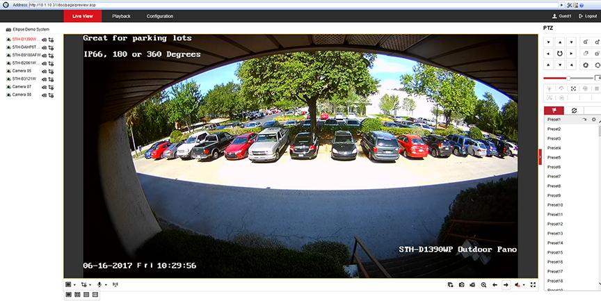 Panoramic CCTV
