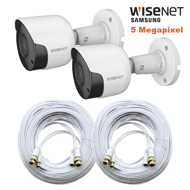 Sdc 89445bf Wisenet 5mp Super Hd Camera Kit With Cable