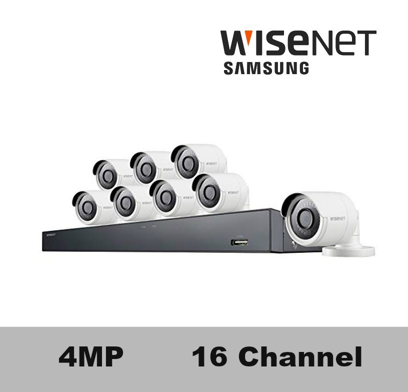 Sdh C85080bf Samsung 16 Channel 4mp Security Camera System